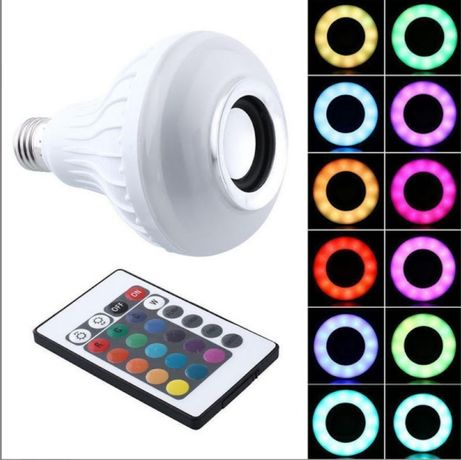 Bec disco smart cu bluetooth, boxa / difuzor, telecomanda