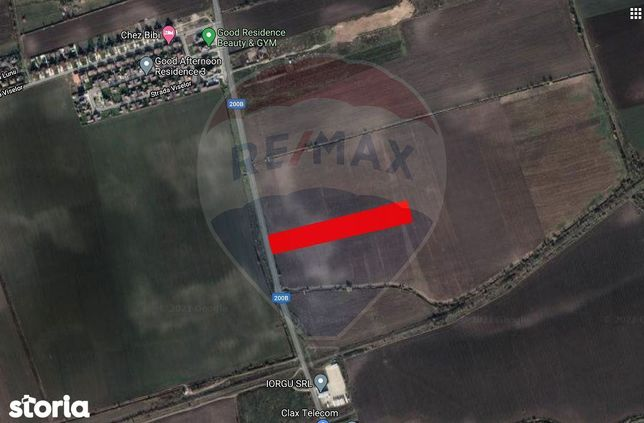 Teren intravilan de 11.448 mp cu acces din soseaua Balotesti-Tunari