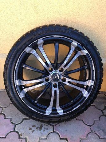 2 roti aliaj jante RTX Poison Series 5x110 Opel 235 40 18 Dunlop iarna
