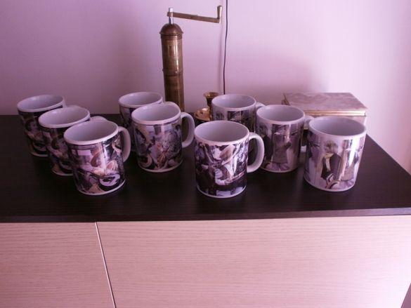 9бр. Големи Чаши за Кафе и Чай Coffee Mugs and Tea Cups