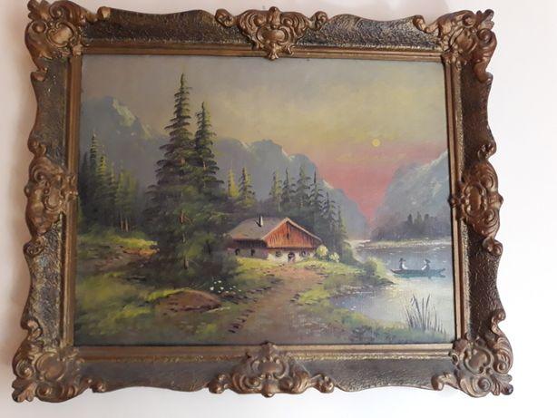 Pictura in ulei , Tablou peisaj natura