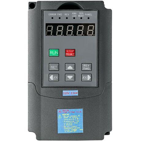 Convertizor Frecventa VFD, Putere 2.2 kW, Alimentare 220V, Nou