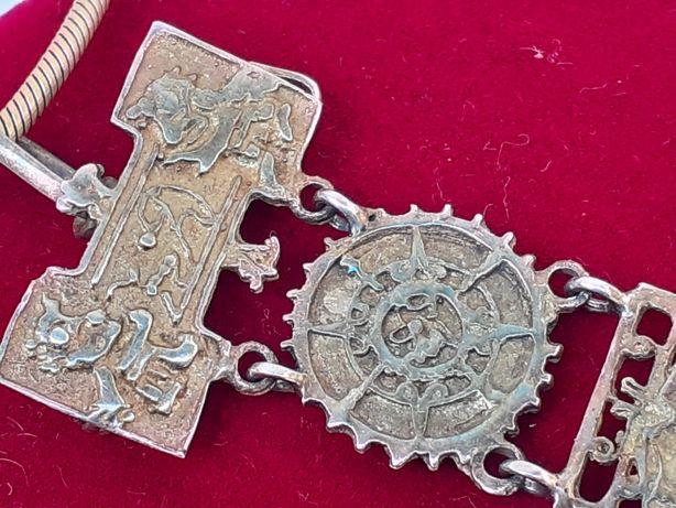 Pandantiv /brosa Maya argint