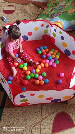 Сухой бассейн с шариками, палатка игровой манеж и шарики