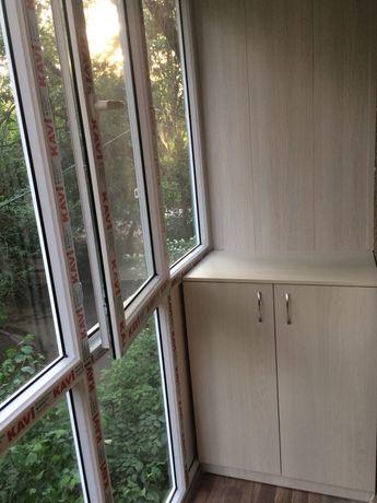 Утепление и обшивка балконов. Пластиковые окна и двери. Шкафы