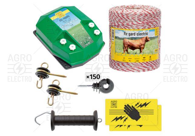 Pachet de bază gard electric 1000 m, 4,5 J, pentru animale domestice