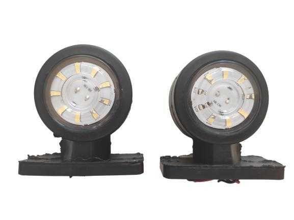 габарити рогчета комплект ЛЕД 12V 9 LED 2 броя Кръгли