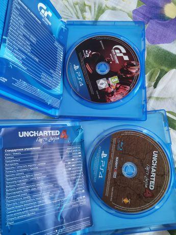 Uncharted 4,Gran Turismo Sport дёшево, диски на ps4