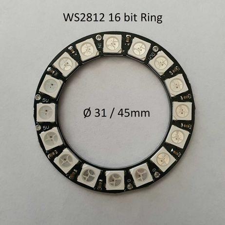 WS2812 8bit, 16bit, 16*16, 8*32 matrix