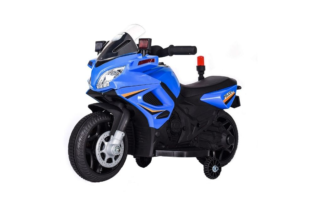 Motocicleta electrica POLICE echipata STANDARD #Albastru Buzau - imagine 1