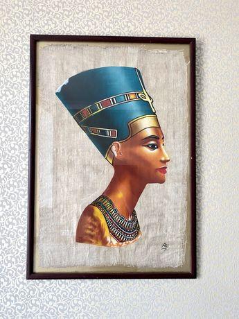 Картина на папирусе Нефертити