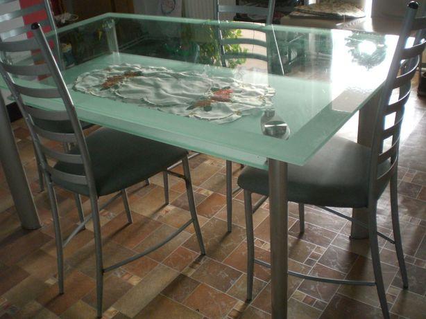 masa de sticla cu scaune