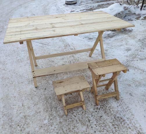 Стол и стулья для уличной торговли, рыбалки или загородного отдыха