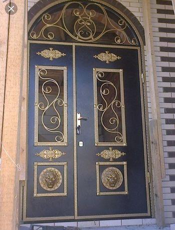 Входные двери, кованные ворота, кованные перилы, павильоны.