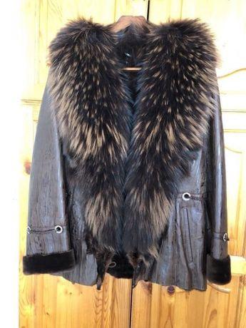 Кожено палто / яке 100% естествена кожа от лисица
