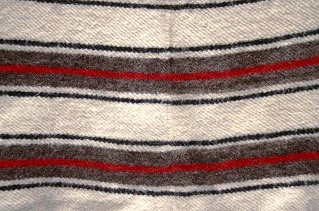 Pătură/Cuvertura tradițională - Cerga cu dungi din lână naturala 100%