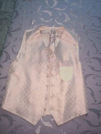 Lavalieră și cravată roz marca Berto Lucci, măsura S