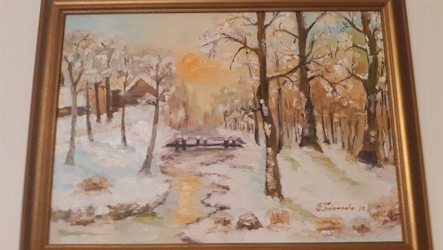 Colectie tablouri cu iarna, in ulei
