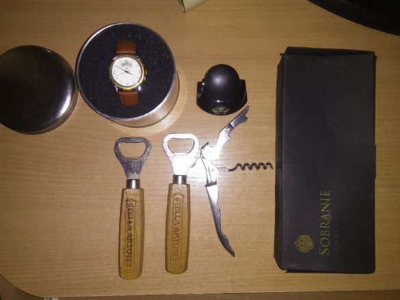 Комплект отварачка и тапа Sobranie + подарък отварачки и часовник