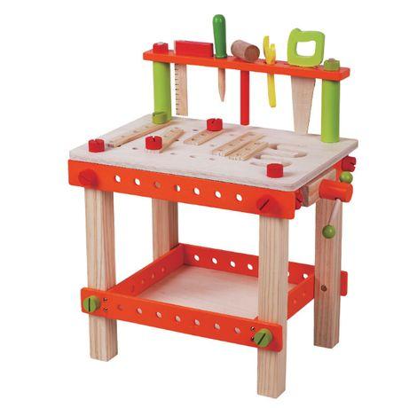 -15% Голяма Детска Дървена Работилница с Инструменти топ качество