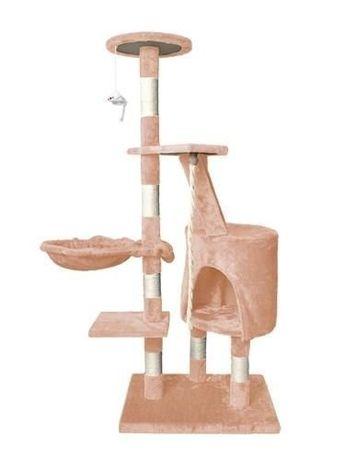 Ansamblu de joaca pentru pisici din sisal, 118x49 cm, bej