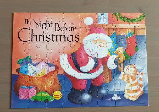 Puzzle 2 x 1 The night before Christmas, 48 piese