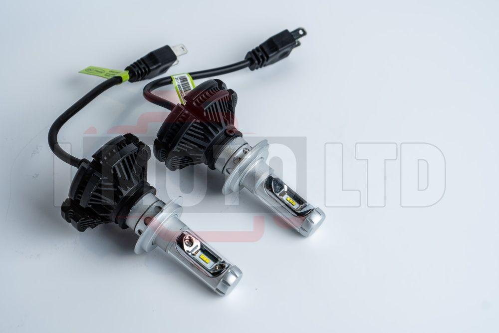 LED / ЛЕД Крушки X3 12000lm, H7, H4, H3, HB3, H1 с 12м. Гаранция!