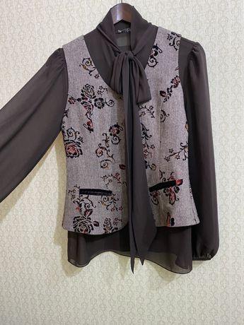Блузка и жилетка от КЗ бренда Bakonya, р.42-44