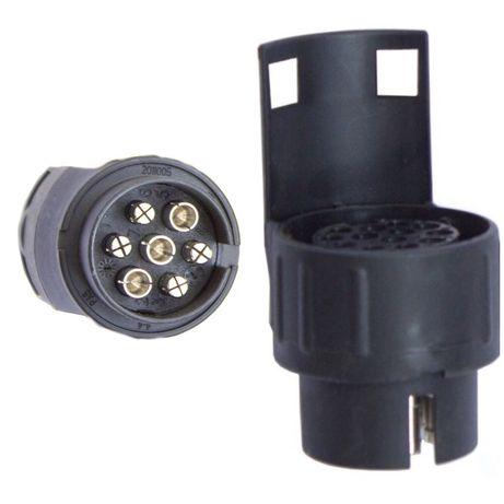 Adaptor mufa conector cupla auto 7 pini la 13 pini remorca platforma