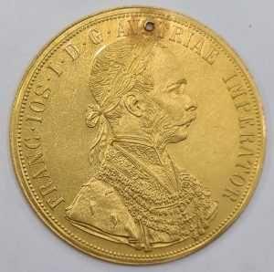 Moneda din aur 4 Ducat Francisc Iosif 1915