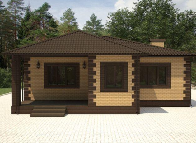Строительство домов под ключ, обделка фасадными кирпичами