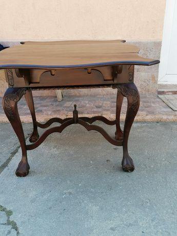 Masa veche de lemn Chippendalle 73 cm