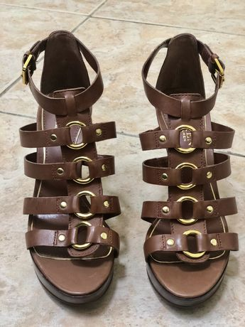 Sandale originale Ralph Lauren, piela naturala