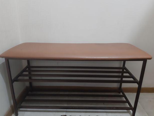 Полка для обуви металлическая с мягким сиденьем