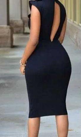 rochie neagra noua cu eticheta