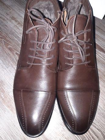 Новая мужская обувь зимняя. Натуральный мех и кожа