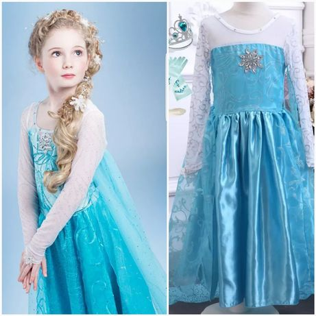 НОВО!!! Изключително красива рокля на Елза от Замръзналото Кралство