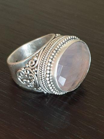 Inel de dama, tribal, din argint 925, de dimensiuni mari, Suarti