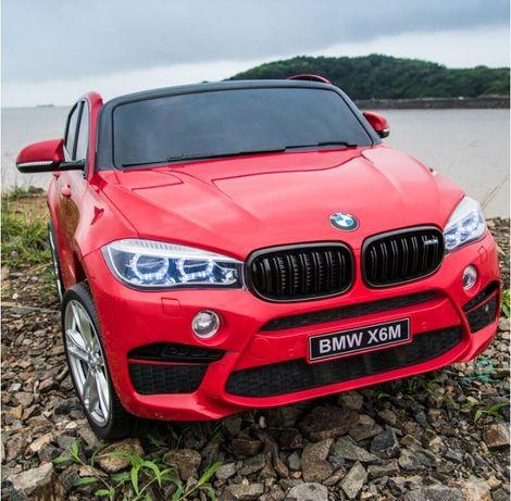 Masinuta electrica pentru 2 copii BMW X6M, culoare metalizata #Rosu