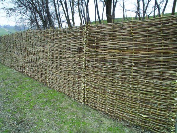 panou de gard, 180x180 cm, impletit din lemn (nuiele) de alun, 129 lei