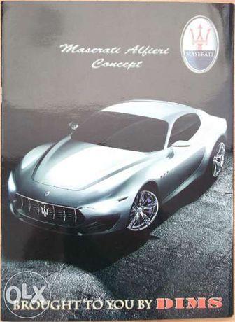 Колекционерски прес кит списание каталог Maserati Alfieri Concept