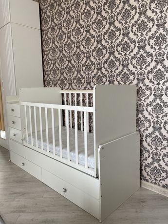 Детская кровать «Фея», манеж, люлька, трансформер