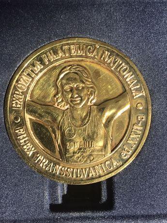 PENTRU COLECȚIONARI: Medalie metal expoziția filatelică Bistrița 2016