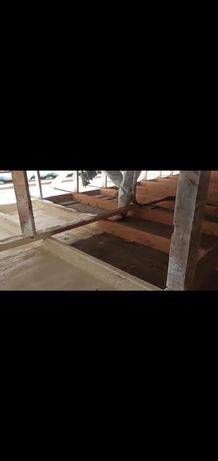 Ппу утепление крыш мансарды ангара методом напыления пенополиуританом