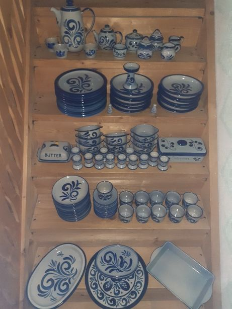Set de masa ceramica Wolf Germania 102 piese - IMPECABIL