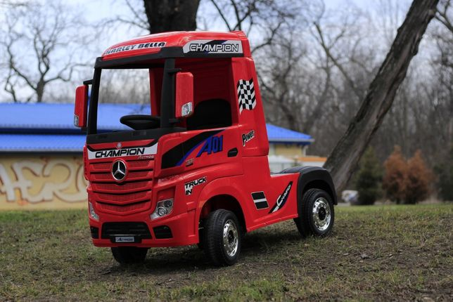 Camion electric Kinderauto Mercedes ACTROS 4x4 PREMIUM 4x45W #Rosu