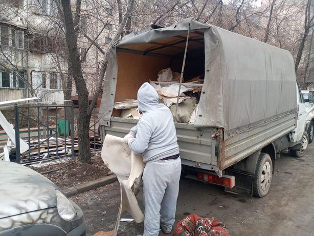 Услуги Вывоз мусора строительного Газель Алматы Вывоз мусора