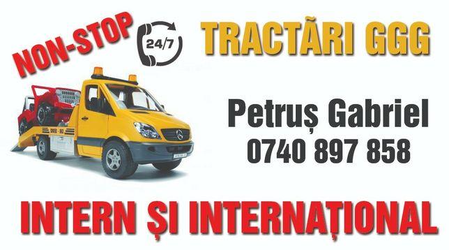 Tractari auto 24/24 Asistenta rutiera intern si international