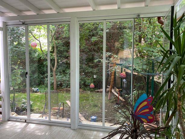 Terase, balcoane foișoare cu sticlă armonică glisantă securizată
