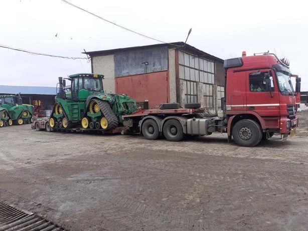 Transport utilaje agricole, utilaje constructii, piese metalice